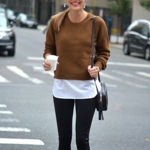 J. Crew Sweaters - J.Crew white shirt tail overlay sweater pullover
